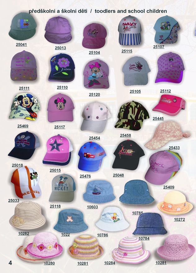 kšiltovky a kloboučky