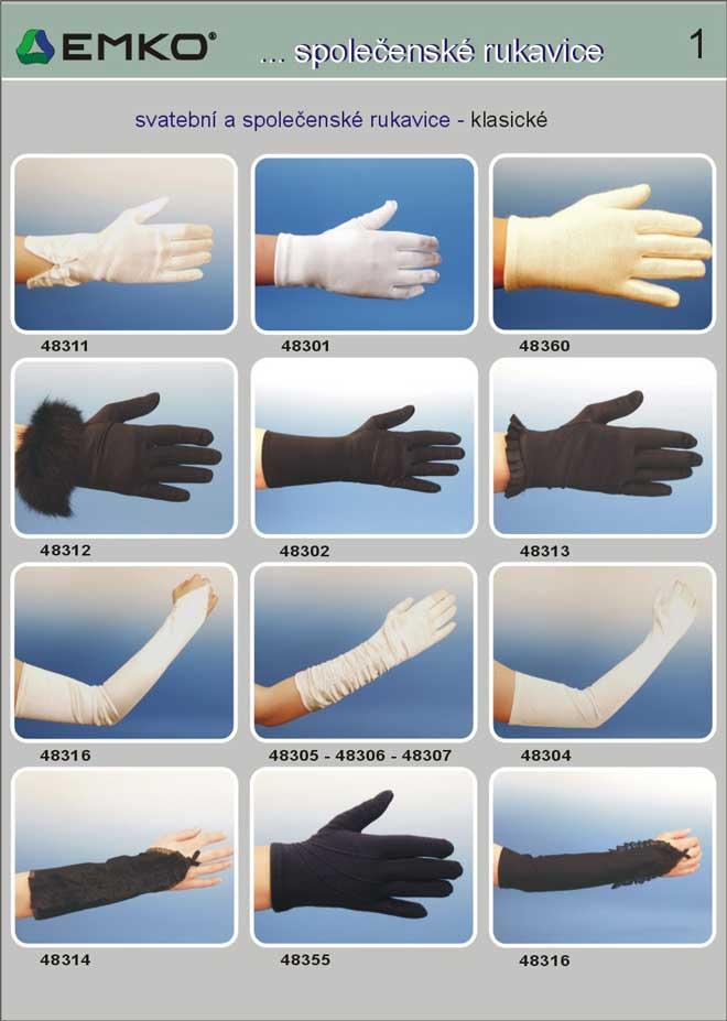společenské rukavice